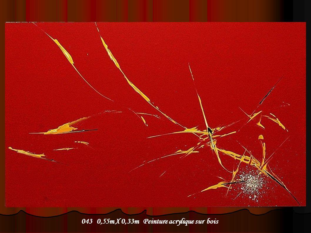 043 0,55m X 0,33m Peinture acrylique sur bois