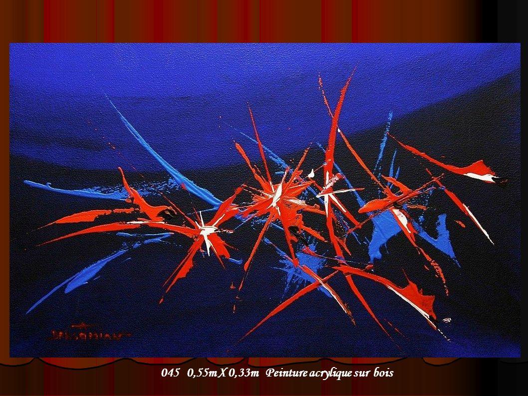 045 0,55m X 0,33m Peinture acrylique sur bois