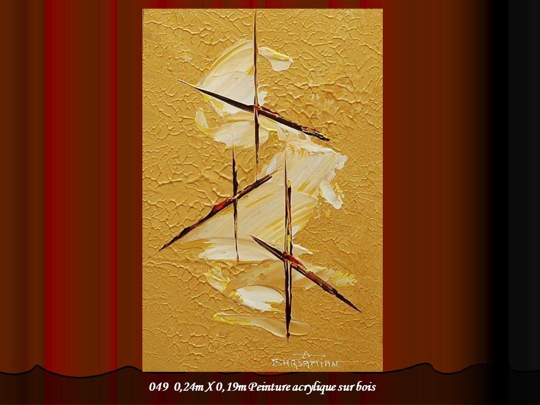049 0,24m X 0,19m Peinture acrylique sur bois