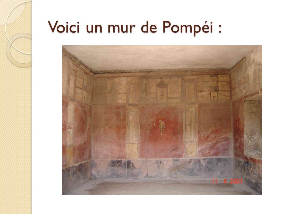 Voici un sol de Pompéi :