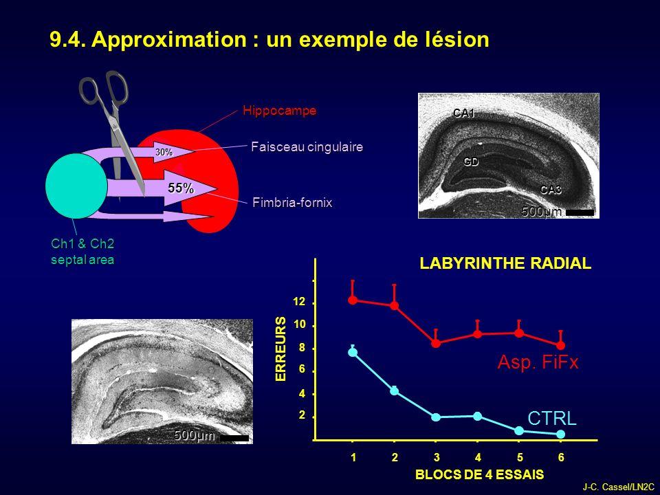 J-C.Cassel/LN2C 9.4. Approximation : un exemple de lésion 23456 CTRL Asp.