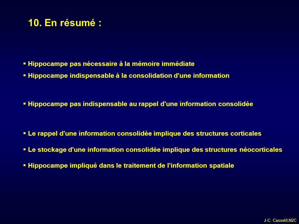 J-C.Cassel/LN2C 10.