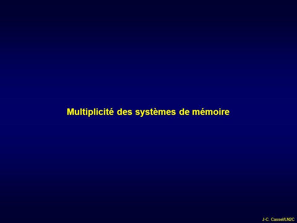 J-C. Cassel/LN2C Multiplicité des systèmes de mémoire
