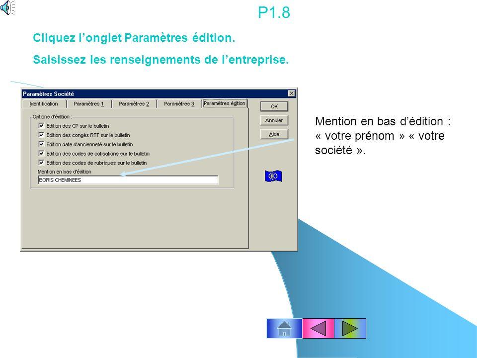 P1.7 Méthode de valorisation des congés payés : Règle du maintien du salaire.