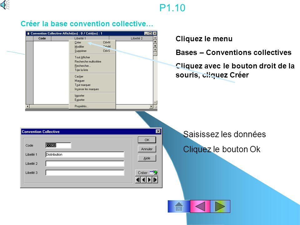 P1.9 Pour modifier une fiche : ligne 1, placez le pointeur de la souris sur la ligne concernée, puis double-cliquez dessus. ou cliquez licône « modifi