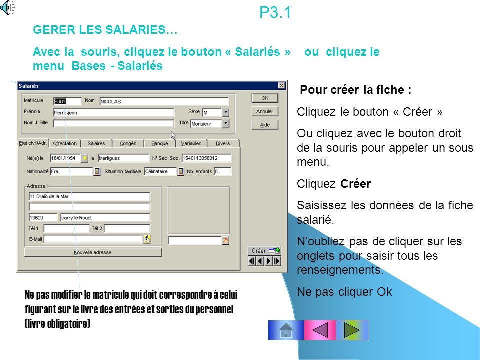 P2.10 Sélectionnez le profil à imprimer.