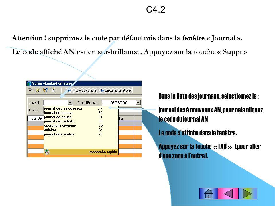 Saisir une écriture comptable (Saisie standard).