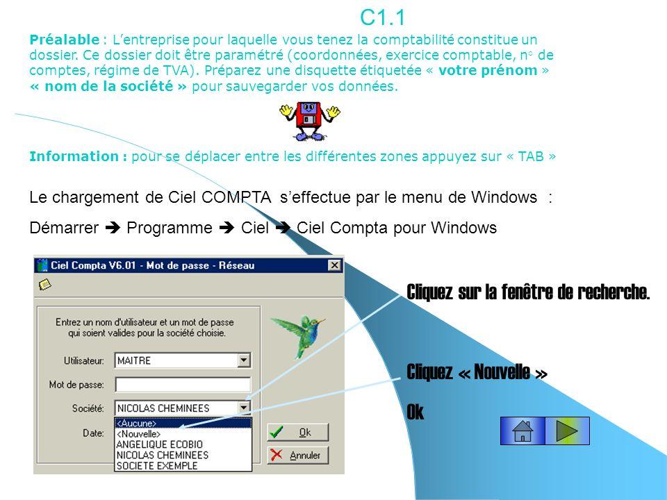 Lempernesse David/CLAF/CIEL CIEL COMPTA Pour atteindre une fiche, cliquez le lien avec le numéro de la fiche.