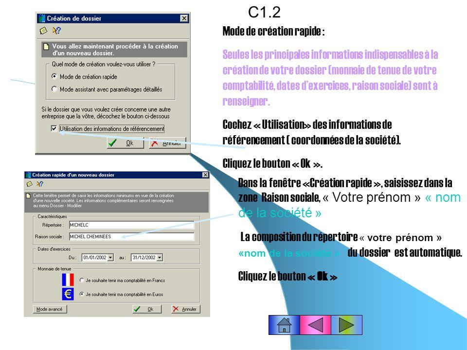 Pour générer (créer) lécriture comptable correspondant à la déclaration de TVA du mois en cours…C9.4 Cliquez le bouton « Oui » Cliquez le bouton Ok