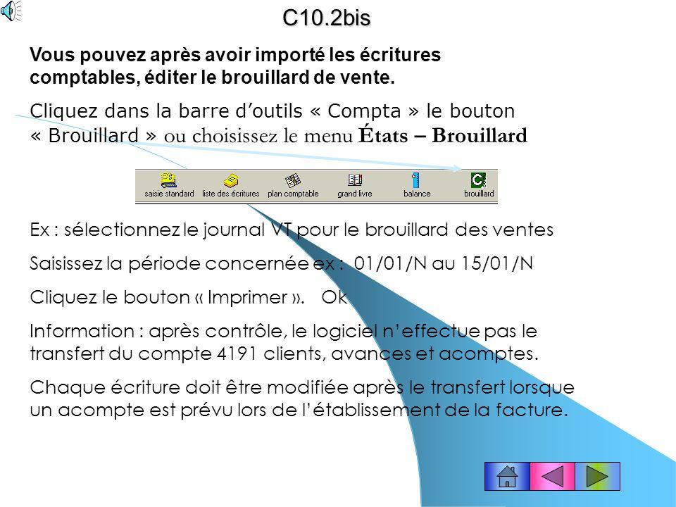solution ( 1 ) Importation des données de la gestion commerciale (suite)… Le chemin et le nom du fichier à importer saffiche : il sagit du répertoire