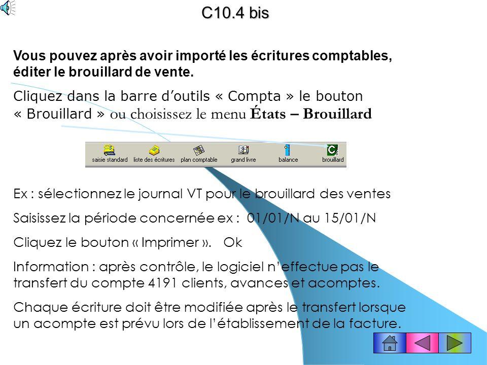 (solution 2) Ciel compta est resté ouvert.C10.4 Information .