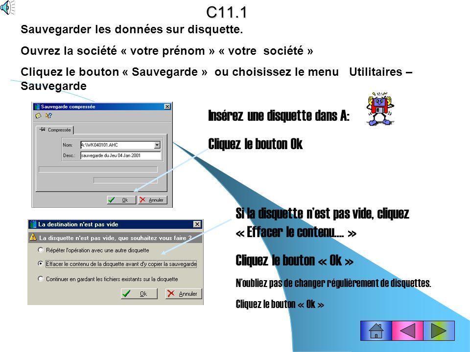 C10.4 bis Vous pouvez après avoir importé les écritures comptables, éditer le brouillard de vente. Cliquez dans la barre doutils « Compta » le bouton