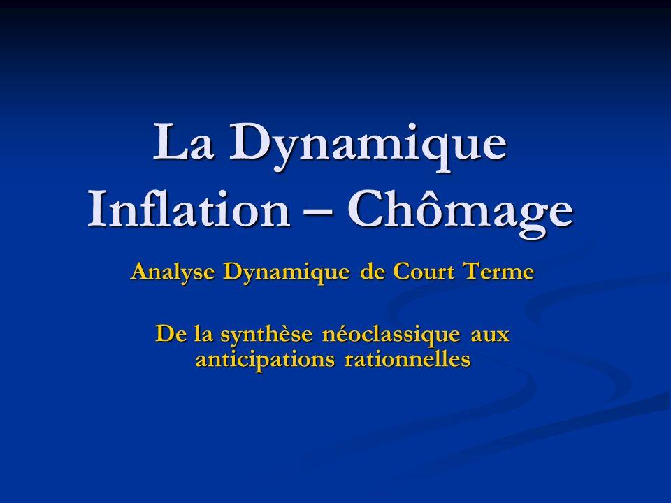 La Dynamique Inflation – Chômage Analyse Dynamique de Court Terme De la synthèse néoclassique aux anticipations rationnelles