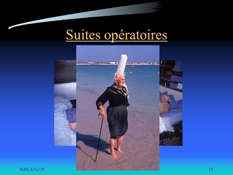 IMK 4/02/0516 Suites opératoires