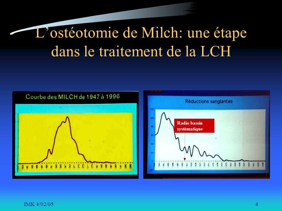 IMK 4/02/054 Lostéotomie de Milch: une étape dans le traitement de la LCH Radio bassin systèmatique