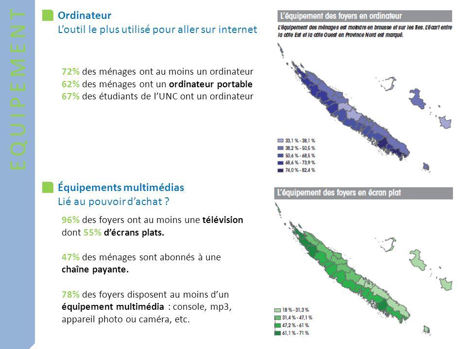 LE RESEAU INTERNET Abonnés internet par commune 14 communes sur 33 enregistrent un taux dabonnement à Internet des ménages supérieur à 20 %.