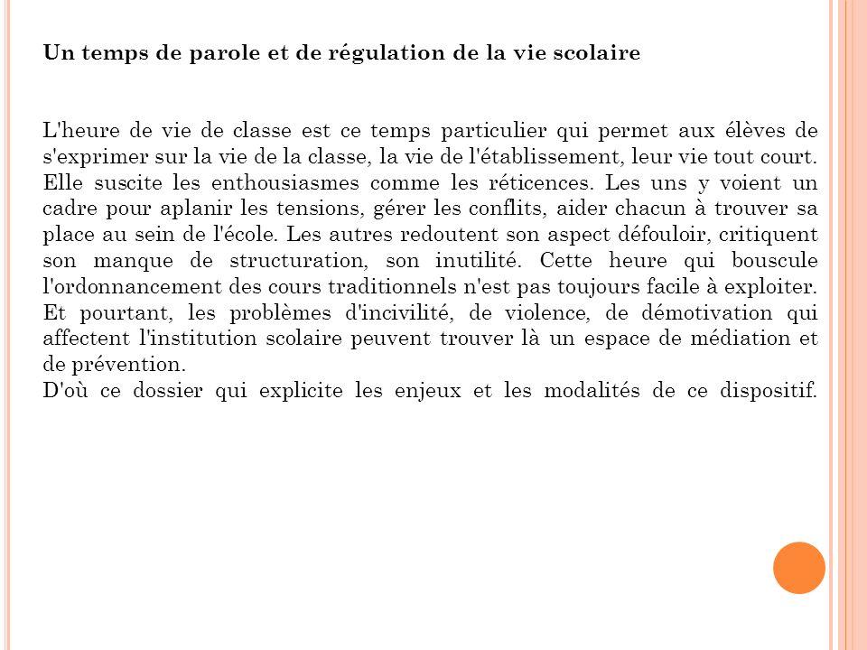 En 1999, suite au rapport sur le collège de l an 2000 et la consultation sur la vie lycéenne, deux notes au B.O.