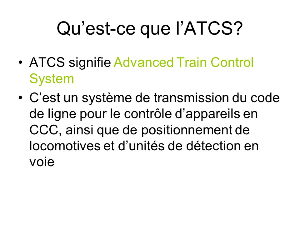 Comment se déroule une séance ATCS.Analyse dun datagram.