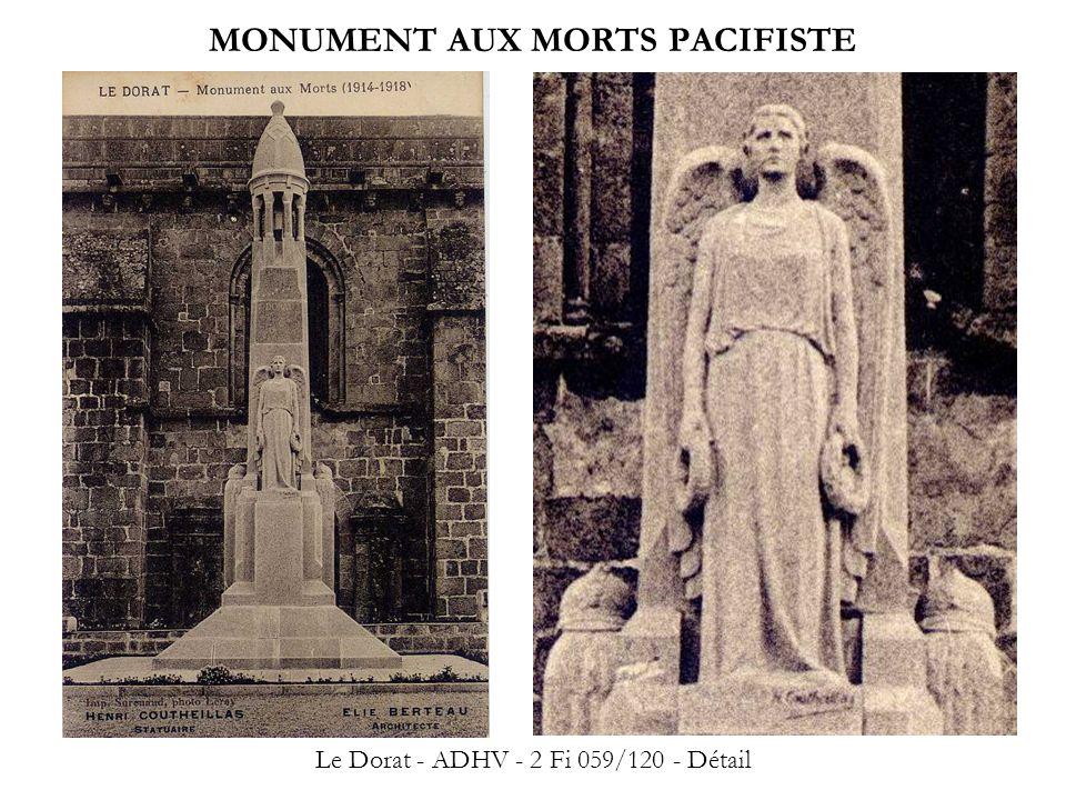 MONUMENT AUX MORTS PACIFISTE Le Dorat - ADHV - 2 Fi 059/120 - Détail