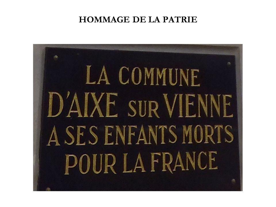 HOMMAGE DE LA PATRIE