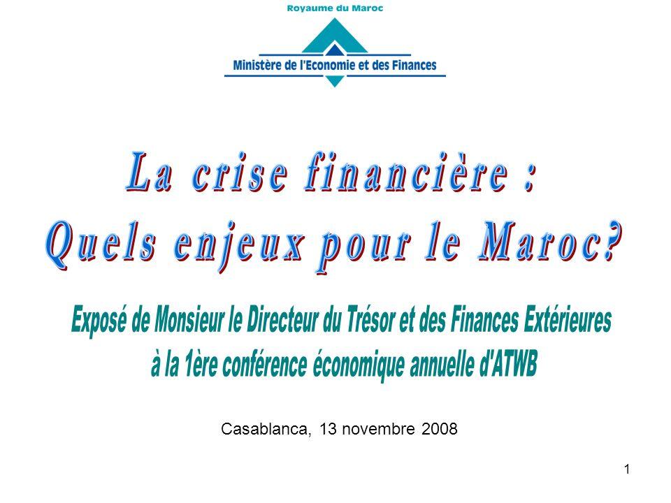 22 Rapport du FMI : « La performance économique récente du Maroc est favorable grâce à une économie plus diversifiée, une situation budgétaire consolidée et un secteur financier solide, le Maroc est bien positionné pour poursuivre son développement malgré la conjoncture mondiale difficile ».