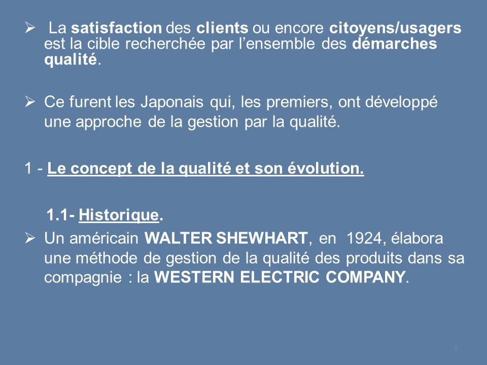 1948JAPON Le Ministre de la défense Américain charge Deming dune étude économique sur le Japon 1951 USA Lancement du concept Total Quality Control (TQC) par Feigenbaum.