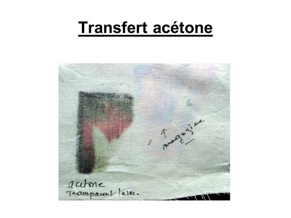 Transfert acétone