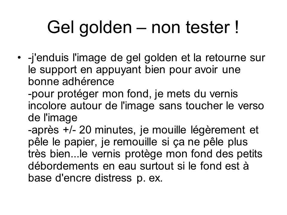 Gel golden – non tester .