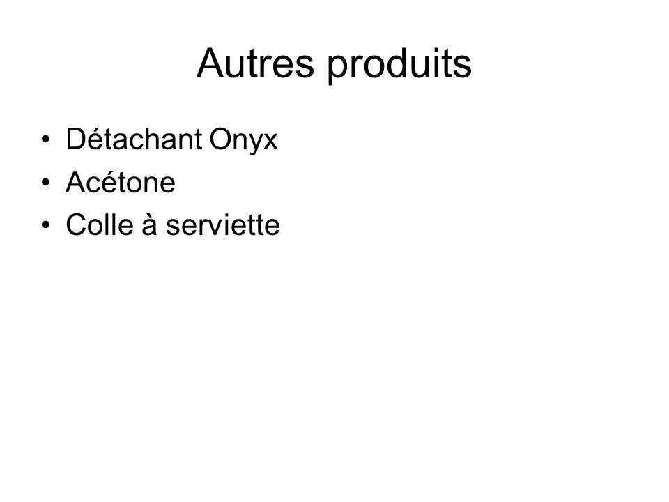 Autres produits Détachant Onyx Acétone Colle à serviette