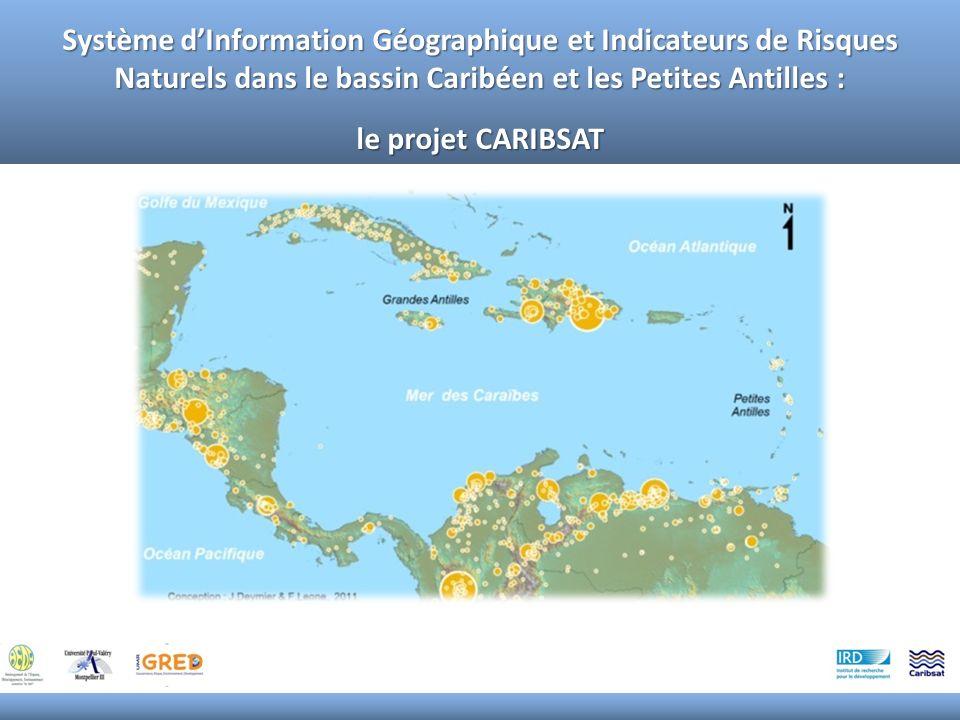 Un important foyer de population : 274 millions de personnes en 2010, 367 millions en 2050 pour les 35 Etats retenus (source PNUD, 2011) Zone caractérisée par une intense activité de phénomènes naturels potentiellement dommageables : - Géodynamiques (plaque caraïbe en confrontation tectonique avec les plaques de Panama, sud-américaine, Andes du Nord, nord-américaine et Cocos) - Hydro-météorologiques (bassin cyclonique majeur, grande étendue maritime) - Morpho-dynamiques (reliefs escarpés, fortes précipitations, couverture daltérites, littoral important) Une forte pression anthropique en particulier sur les littoraux (enjeux humains élevés, dégradation et surexploitations des écosystèmes et des sols) La Caraïbe : un bassin à risques naturels majeurs