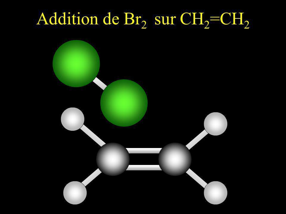Suite à l approche d un site riche en électrons ( ), la liaison Br-Br se polarise par influence.