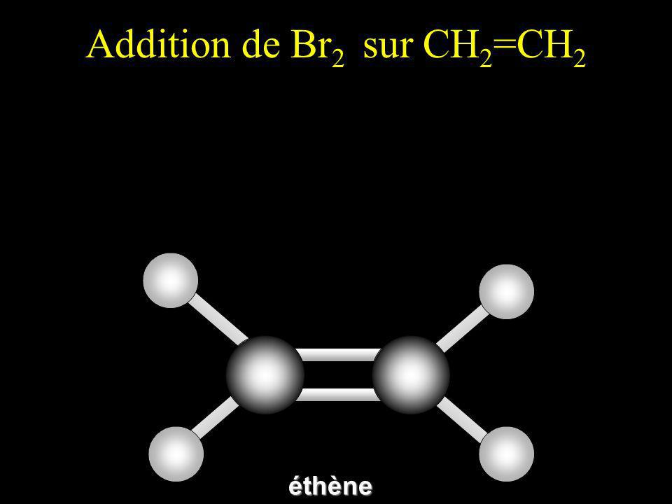 Addition de Br 2 sur CH 2 =CH 2éthène