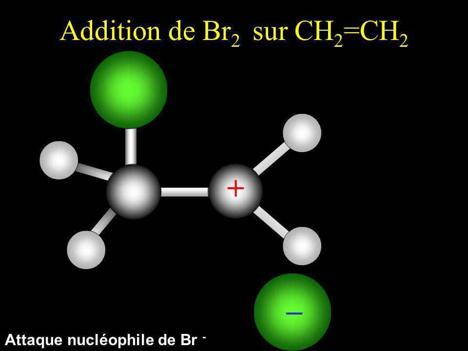 Addition de Br 2 sur CH 2 =CH 2 Attaque nucléophile de Br -