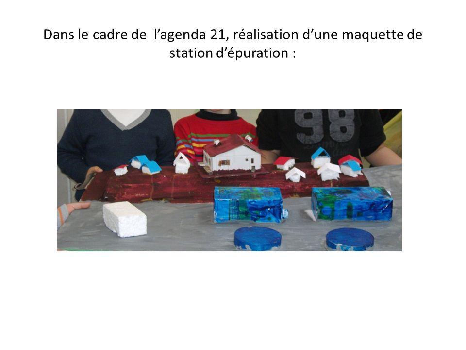 Dans le cadre de lagenda 21, réalisation dune maquette de station dépuration :