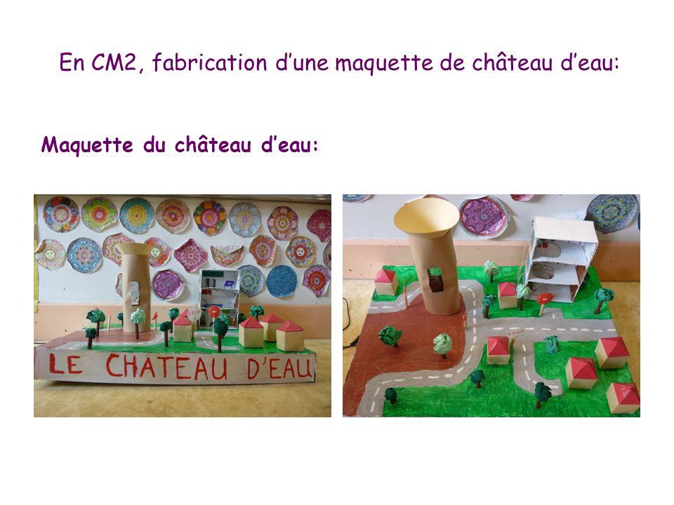 En CM2, fabrication dune maquette de château deau: Maquette du château deau: