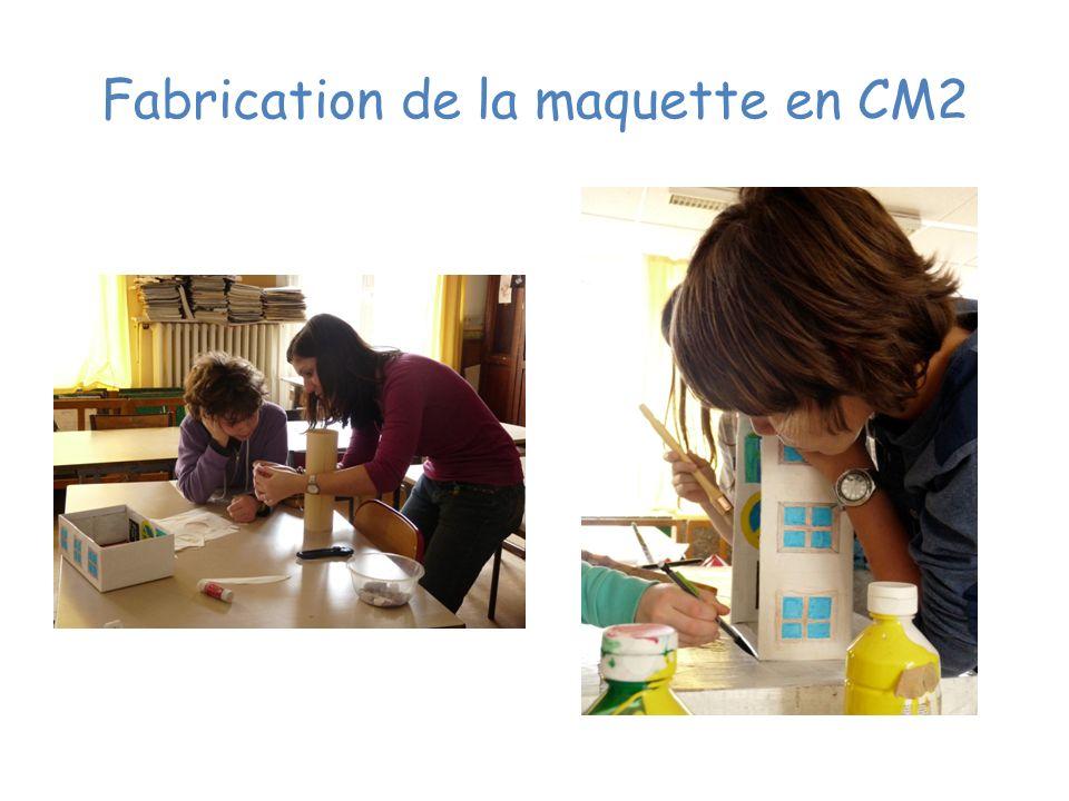 Fabrication de la maquette en CM2