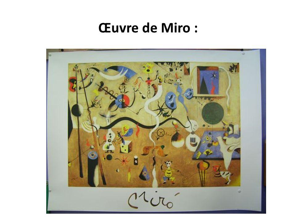 Œuvre de Miro :
