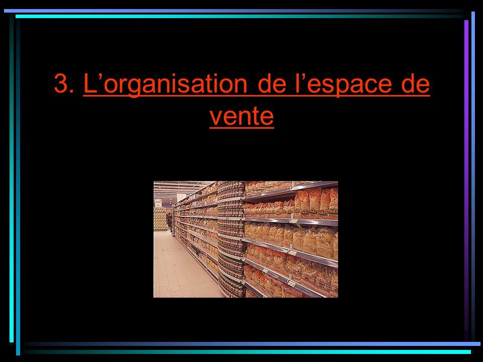 3. Lorganisation de lespace de vente