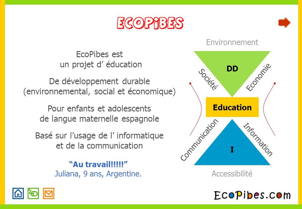 Information Accessibilité Communication Education I DD Environnement Société Economie Basé sur lusage de l informatique et de la communication EcoPibe