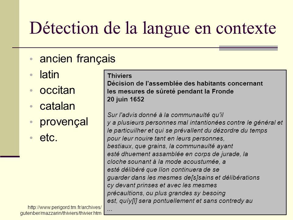 30 Détection de la langue en contexte .