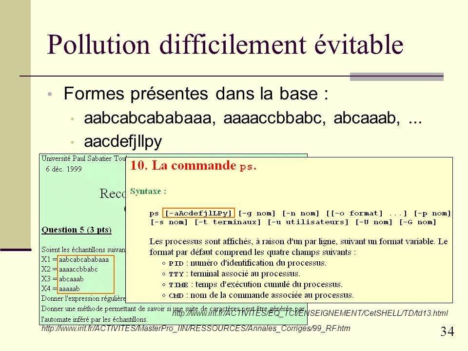 33 Non-Filtrage des erreurs on ne traite pas : les consonnes doubblées, les invesrions de lettres, etc.