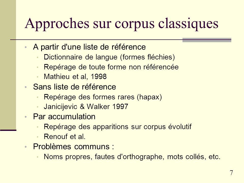 6 Exemples d études à l ERSS Etude de suffixes particuliers -able, -esque, -este, -ien, -ouill-, etc.
