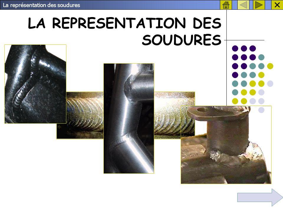 La représentation des soudures 5.
