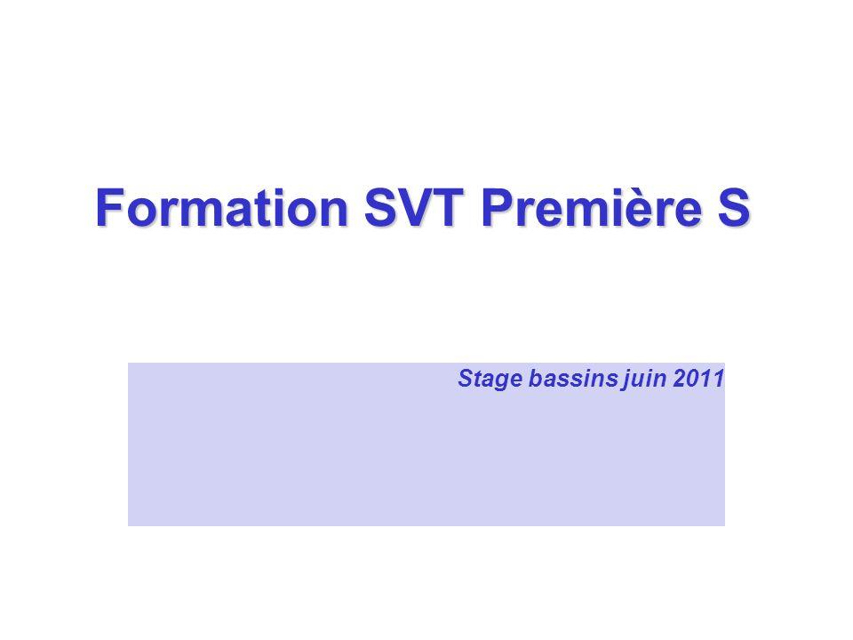 Formation SVT Première S Stage bassins juin 2011