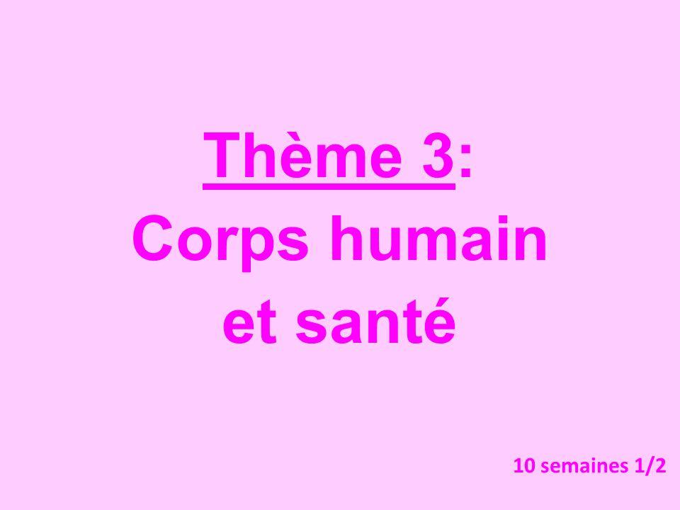Thème 3: Corps humain et santé 10 semaines 1/2