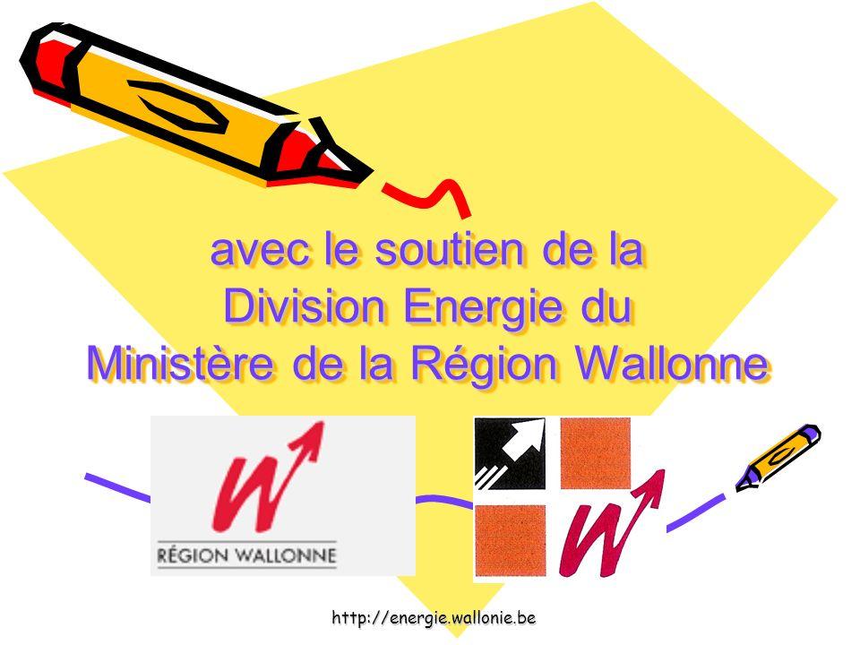 avec le soutien de la Division Energie du Ministère de la Région Wallonne avec le soutien de la Division Energie du Ministère de la Région Wallonne ht