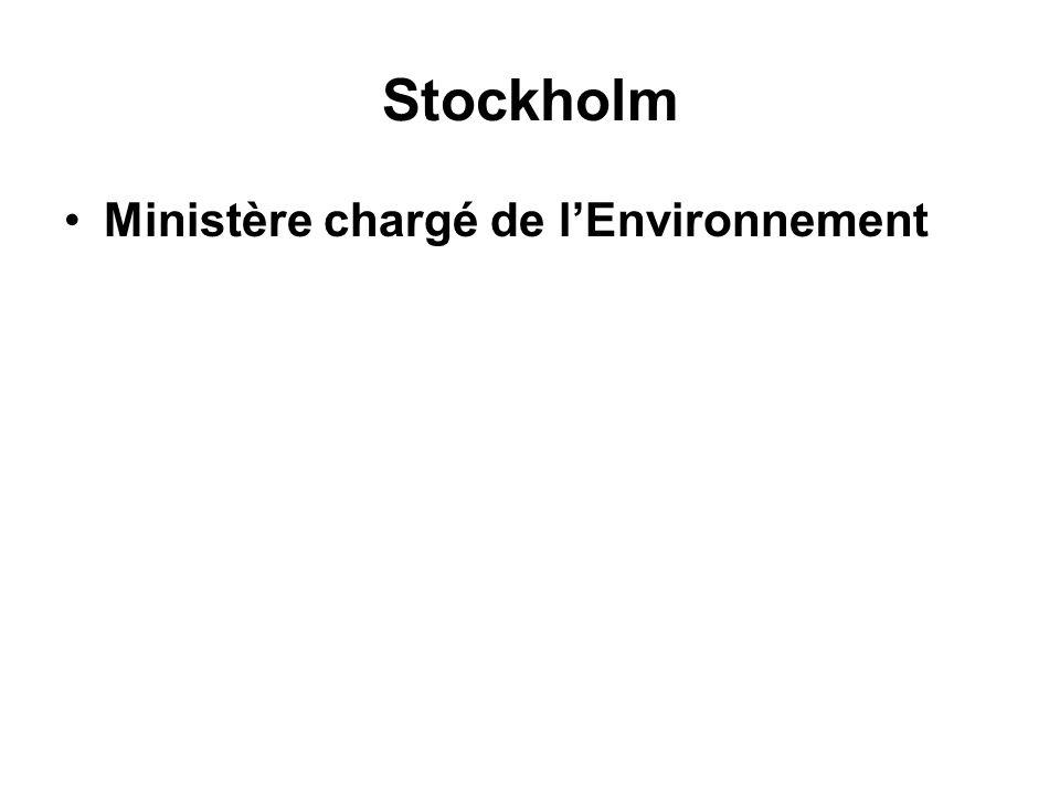 Stockholm Ministère chargé de lEnvironnement