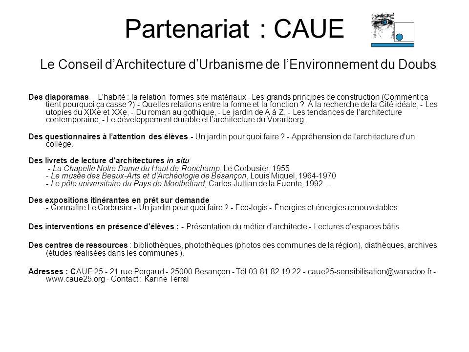 Partenariat : CAUE Le Conseil dArchitecture dUrbanisme de lEnvironnement du Doubs Des diaporamas - L'habité : la relation formes-site-matériaux - Les