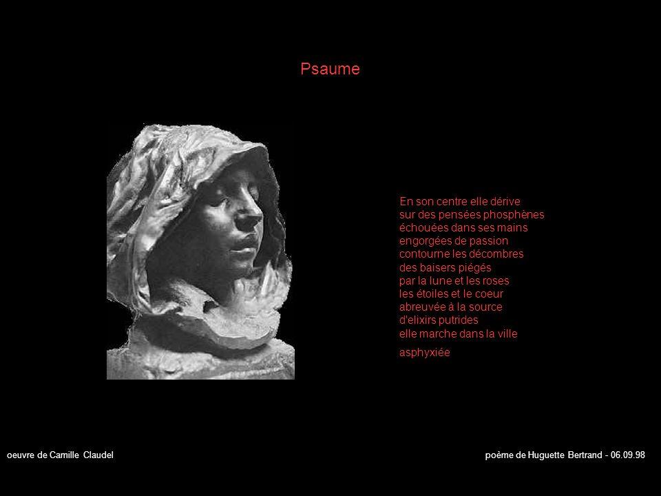 La Méditation Devant un grand ciel vert elle songe au temps défait magnifique temps des songes qu enlace une âme discrète quand ses courbes jubilent sous l apesanteur des regards dans son espace imaginaire surveille une enfilade de pas contemplatifs de son éternitude poème de Huguette Bertrand - 27.08.98 oeuvre de Auguste Rodin