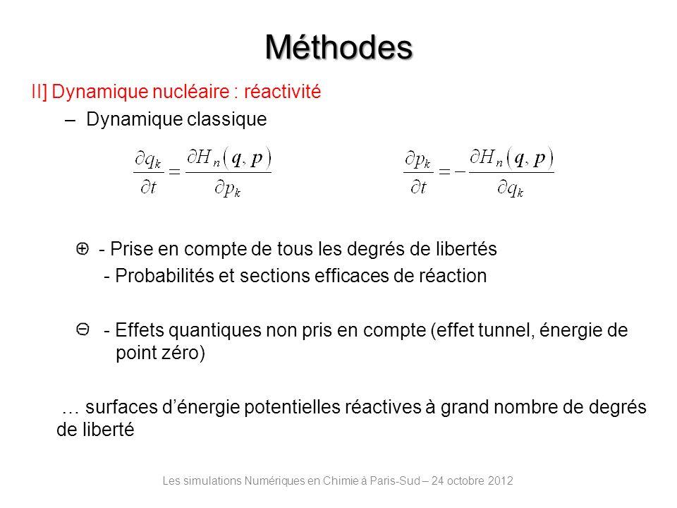 Interaction de H avec une surface graphénique : Les simulations Numériques en Chimie à Paris-Sud – 24 octobre 2012 Chimisorption: C trigonal plan C tétraédrique d CH = 1.1 Å Echim = -1 à -0.5 eV Physisorption : Ephys = -0.04eV Exp : Ghio et al.